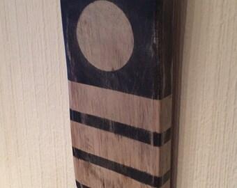 Recycled wood wall art - Geo range - 3 stripe circle