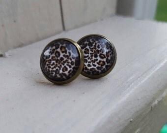 Leopard Studs