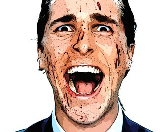 American Psycho Large A1 Canvas