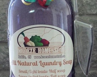All Natural Laundry Soap Refills