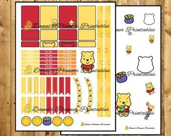 Winnie the Pooh Printable Sticker Planner Kit