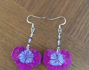 Origami Heart Earrings
