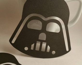 4inch darth vader die cut darth vader punch star wars die cut star - Star Wars Decorations