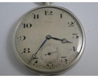 Rare all silver hallmarked rolex vintage pocket watch just serviced