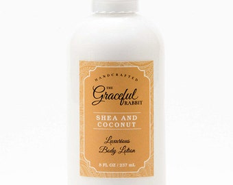 SHEA and COCONUT | Lotion Hand and Body  | made with Goat Milk | The Graceful Rabbit