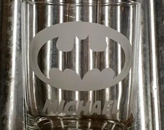 Personalized Super Hero Glass