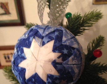 Christmas Snowflake Quilted Ornament