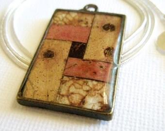 Pendant, necklace, resin, Australian, unique