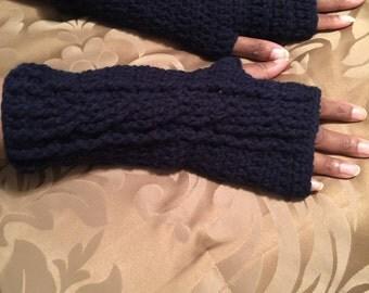 Crochet fingerless gloves !
