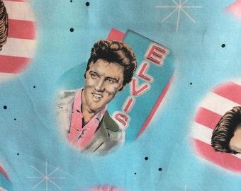Elvis Presley Fabric / Elvis Portrait Fabric / The King / By the Yard/OOP