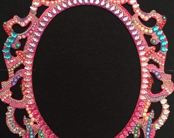 Large handmade Crystal Frame