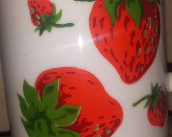 Adorable strawberry motif coffee mug by Georges Briard