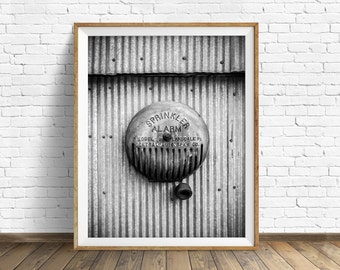 "black and white photography, large art, printable art, instant download printable art, digital download, wall art - ""Central Auto Speaker"""