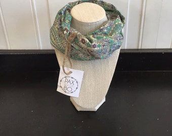 Pastel Paisley Safe Infinity Scarf