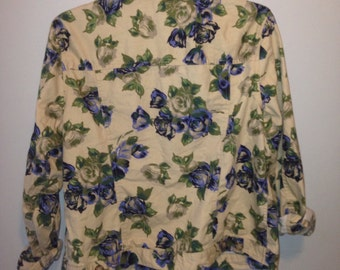 floral jacket size s-m