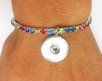 BRACELET with Rhinestones for push-buttons