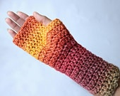 Fingerless gloves. Long f...