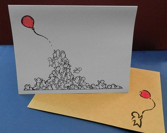 Handmade note cards, Note cards, Blank note cards, all occasion note cards, cartoon note cards