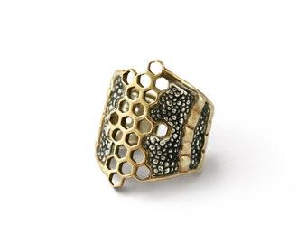 Melange Honeycomb Ring