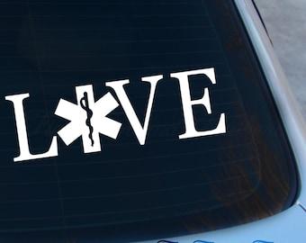 Love EMT Decal - Paramedic Decal - EMS Decal - Vinyl Sticker - Laptop - Macbook - Car Decal