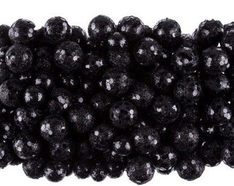 Black Glitter Foam Balls, vase fillers, decorative balls, small balls, glitter balls