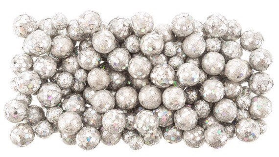 Small Decorative Balls Fair Silver Glitter Foam Balls Vase Fillers Decorative Balls Small Design Inspiration