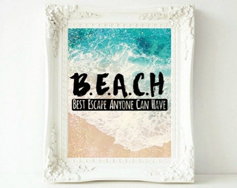 Beach Print Beach Art Beach Decor Beach Wall Art Coastal Wall Art Ocean Print Ocean Art Coastal Decor Beach House Decor Printable Art