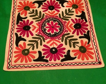 Embroidered Cushion Cover-Indian-handmade