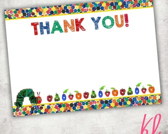 Printable Thank You Card- The Hungry Caterpillar - Digital File