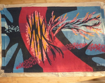 large canvas tapestry 70s from  BLEYNIE artist from France