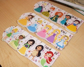 Magnetic Bookmarks princesses and superheroes