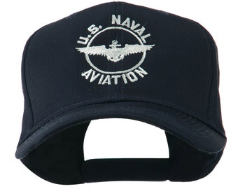 US Naval Aviation Wings Embroidered Cap