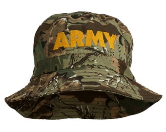 US Army Embroidered Pigment Dyed Bucket Hat