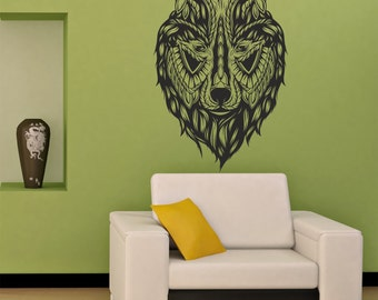 Stickers For Wall Decor wolf wall decal | etsy