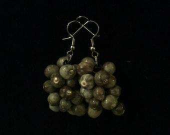 Light Gray Job's Tears Seed Earrings