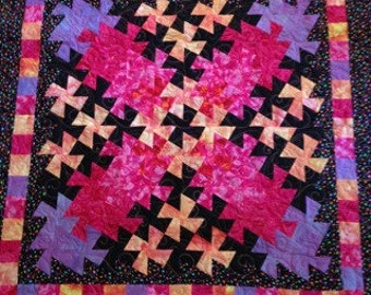 Bright multi-colored baby quilt