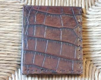 Man croco leather wallet