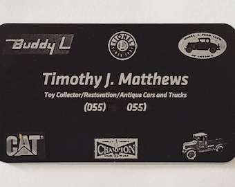 Anodized Business Cards or Name Plates