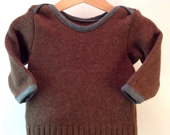 Upcycling Brown sweater wool, Gr. 62/68