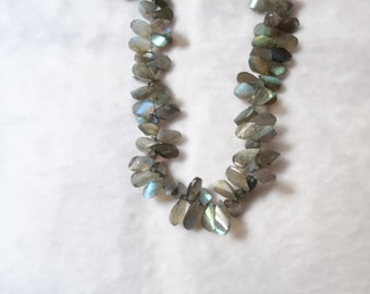 Labradorite Twisted Faceted Pears