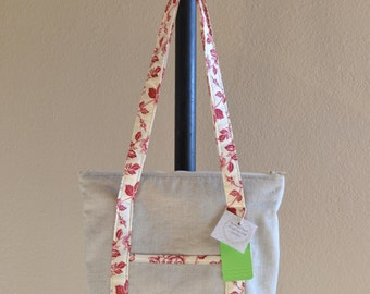 Quilted Linen Tote & Cell Case