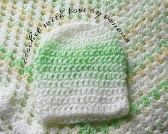 baby blanket and hat set