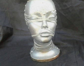 Hand made mannequin head hat/wig stand