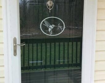 Glass Door Decal-Hummingbird