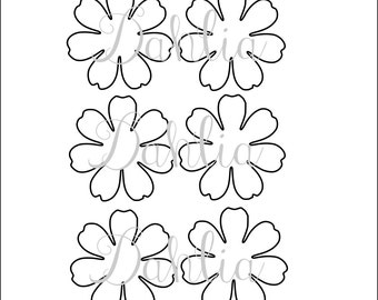 Diy giant paper flower printable templates flower template diy printable flower templates pdf petal templates diy paper flower patterns small flower pronofoot35fo Images