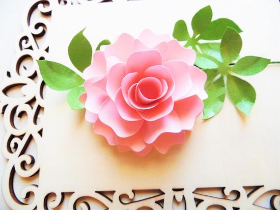 Paper Rose Template 11