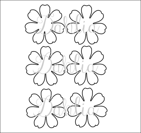 Diy printable flower templates pdf petal templates diy for Free paper flower templates