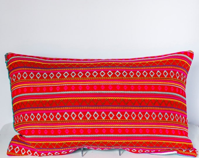 "Sofia: Argentinian knit throw pillow 16"" x 26"""