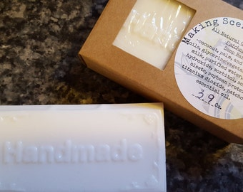 Homemade All Natural Goats Milk Patchouli Moisturizing Soap Bar