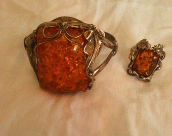 Silver solid and amber